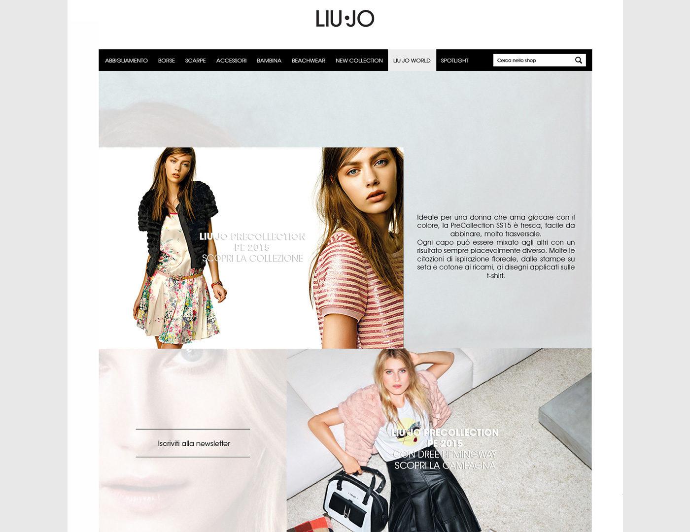 more photos dca4d 0455c Studio e progettazione wireframe pagine sito ufficiale Liu Jo -